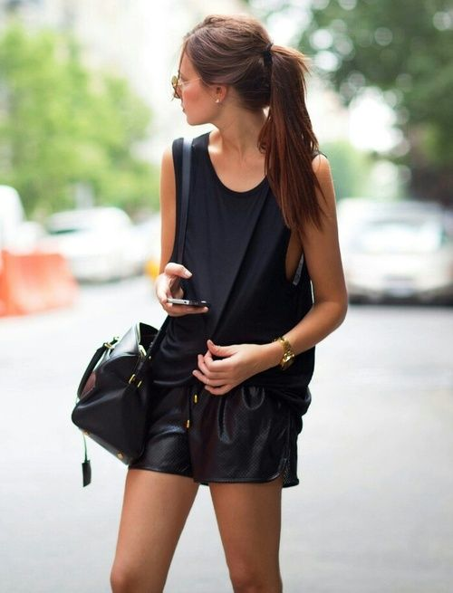 leather shorts day 3